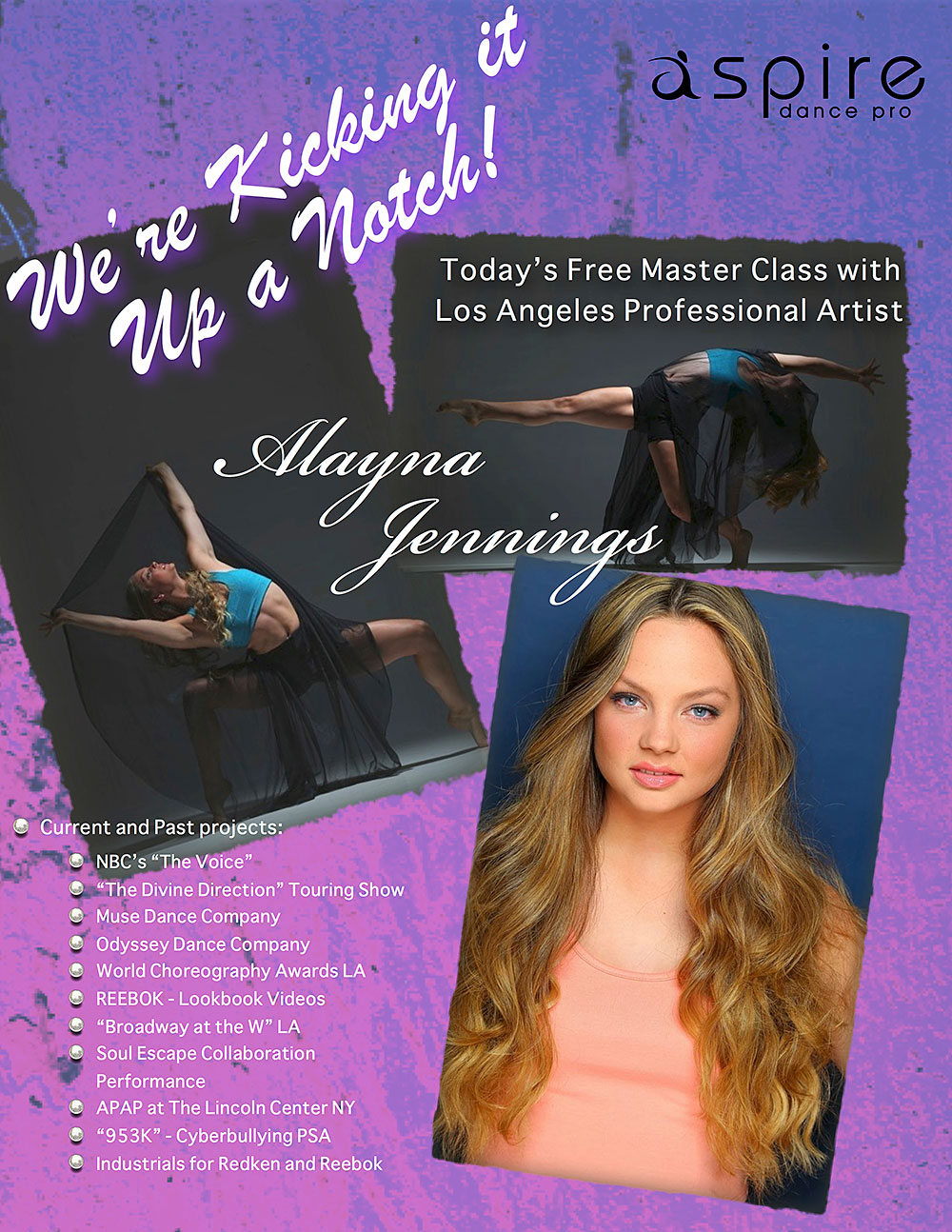 Alayna Jenning - Aspire Dance Pro Competitions Master Class Instructor