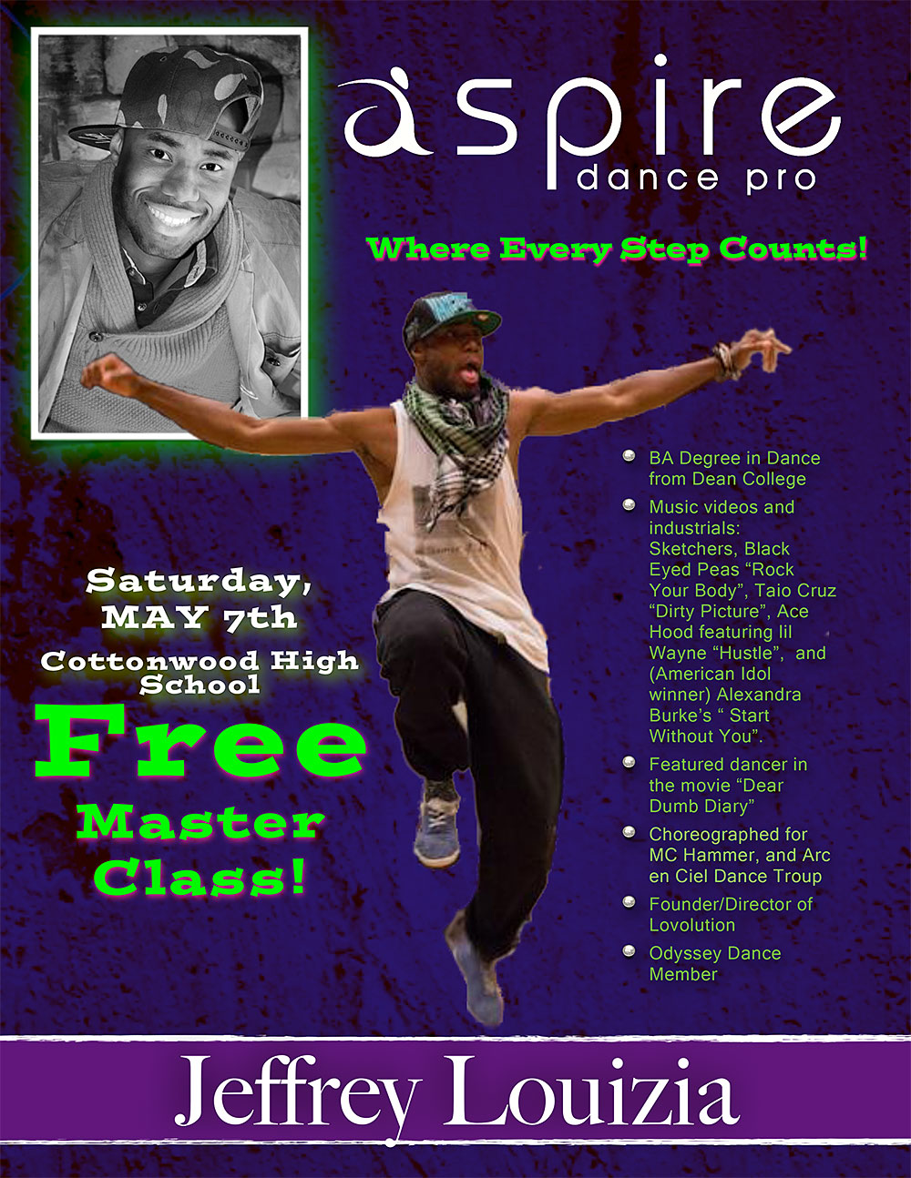 Jeffrey Louizia - Aspire Dance Pro Competitions Masterclass Instructor