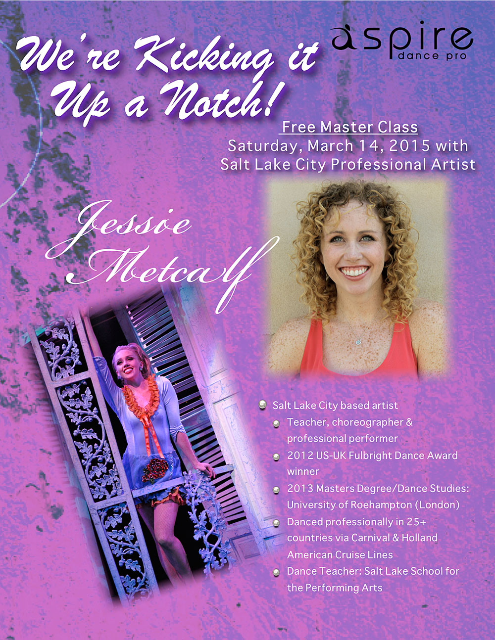 Jessie Metcalf - Aspire Dance Pro Competitions Masterclass Instructor