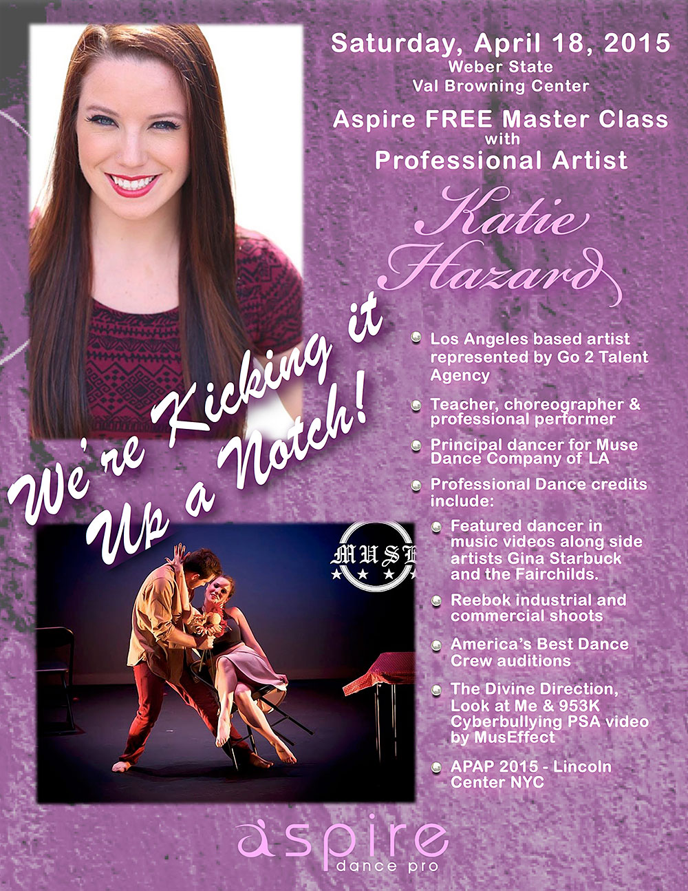 Katie Hazard - Aspire Dance Pro Competitions Masterclass Instructor