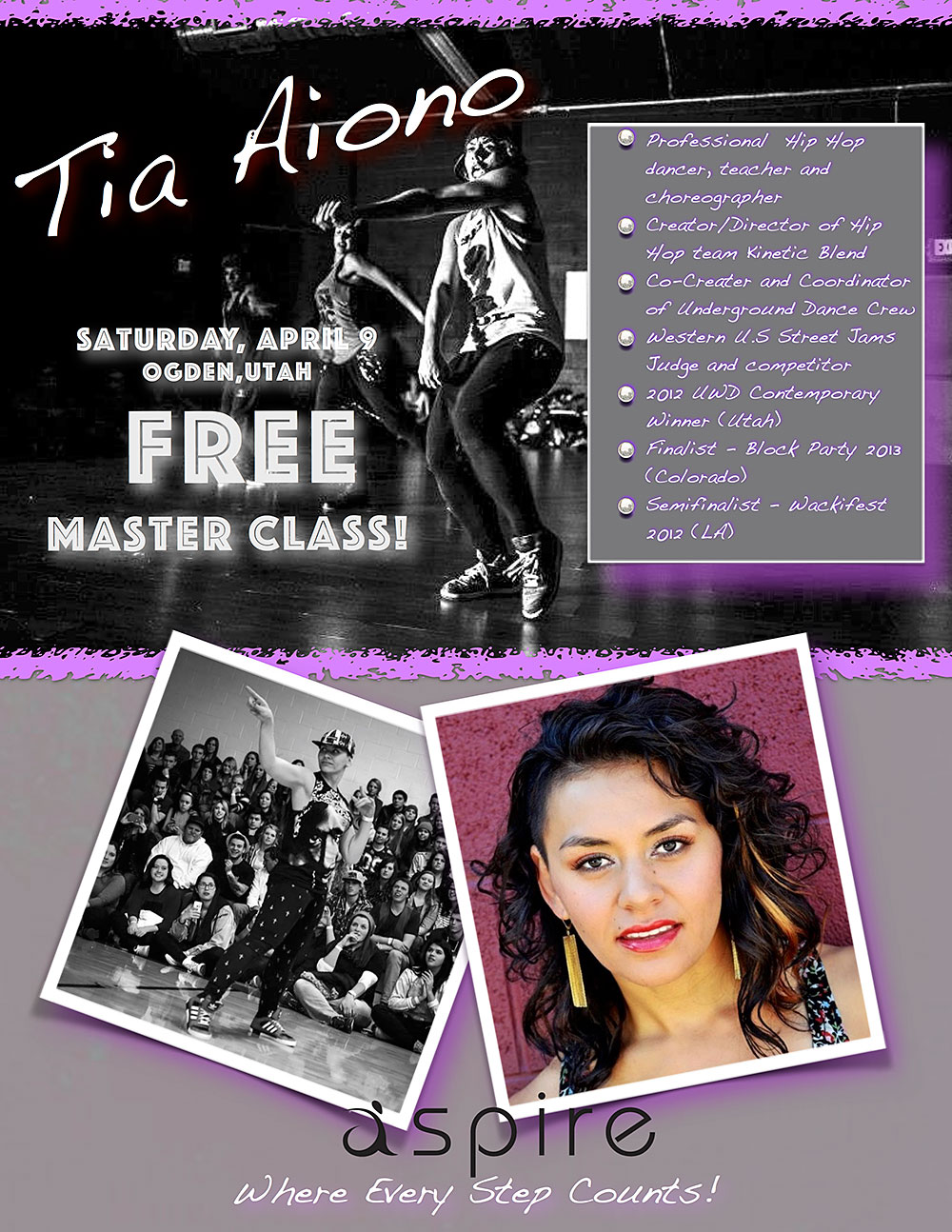 Tia Aiono - Aspire Dance Pro Competitions Masterclass Instructor