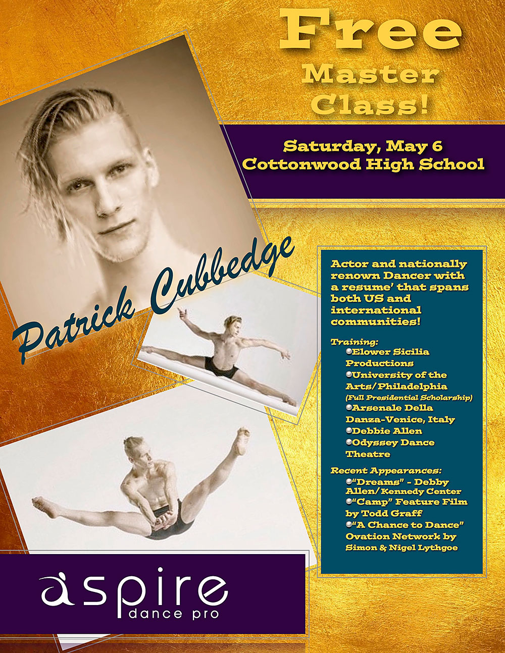 Patrick Cubbedge - Aspire Dance Pro Competitions Masterclass Instructor