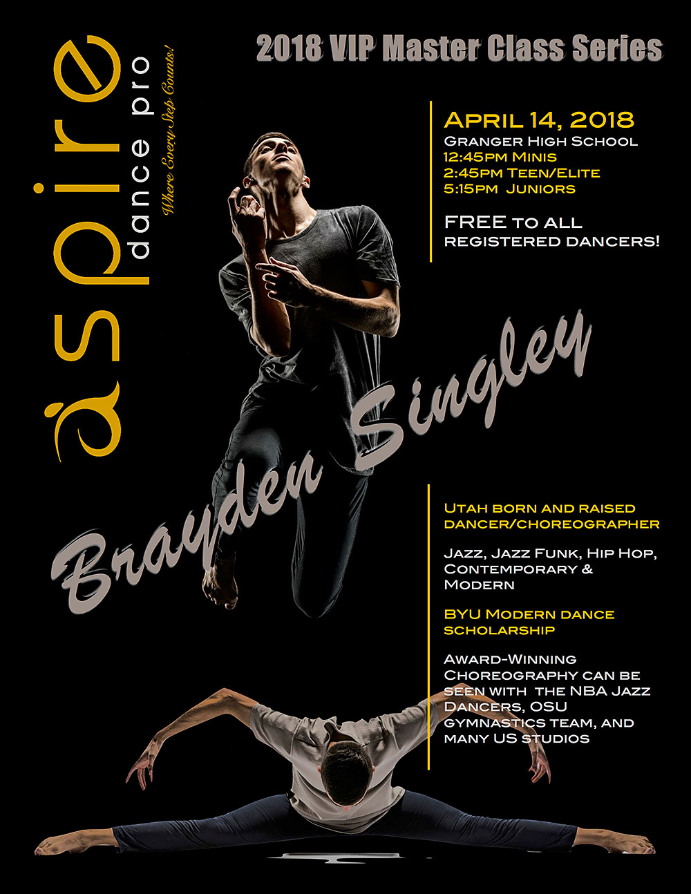 Brayden Singley - Aspire Dance Pro Competitions Masterclass Instructor