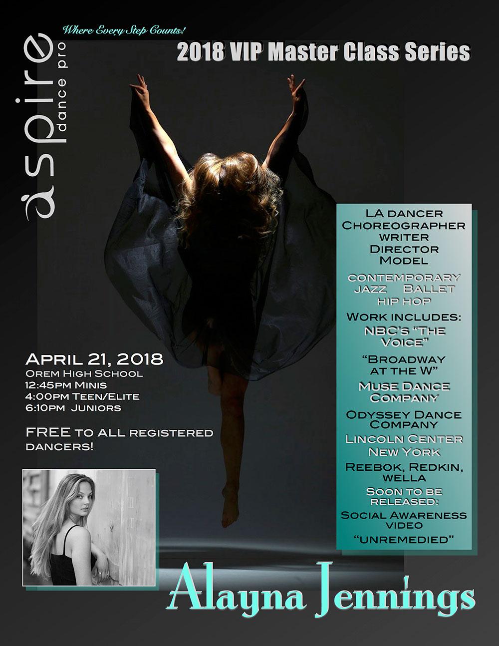 Alayna Jennings - Aspire Dance Pro Competitions Masterclass Instructor