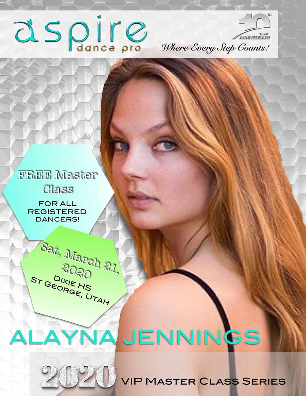 Alayna Jennings - Aspire 2020 VIP Master Class Series
