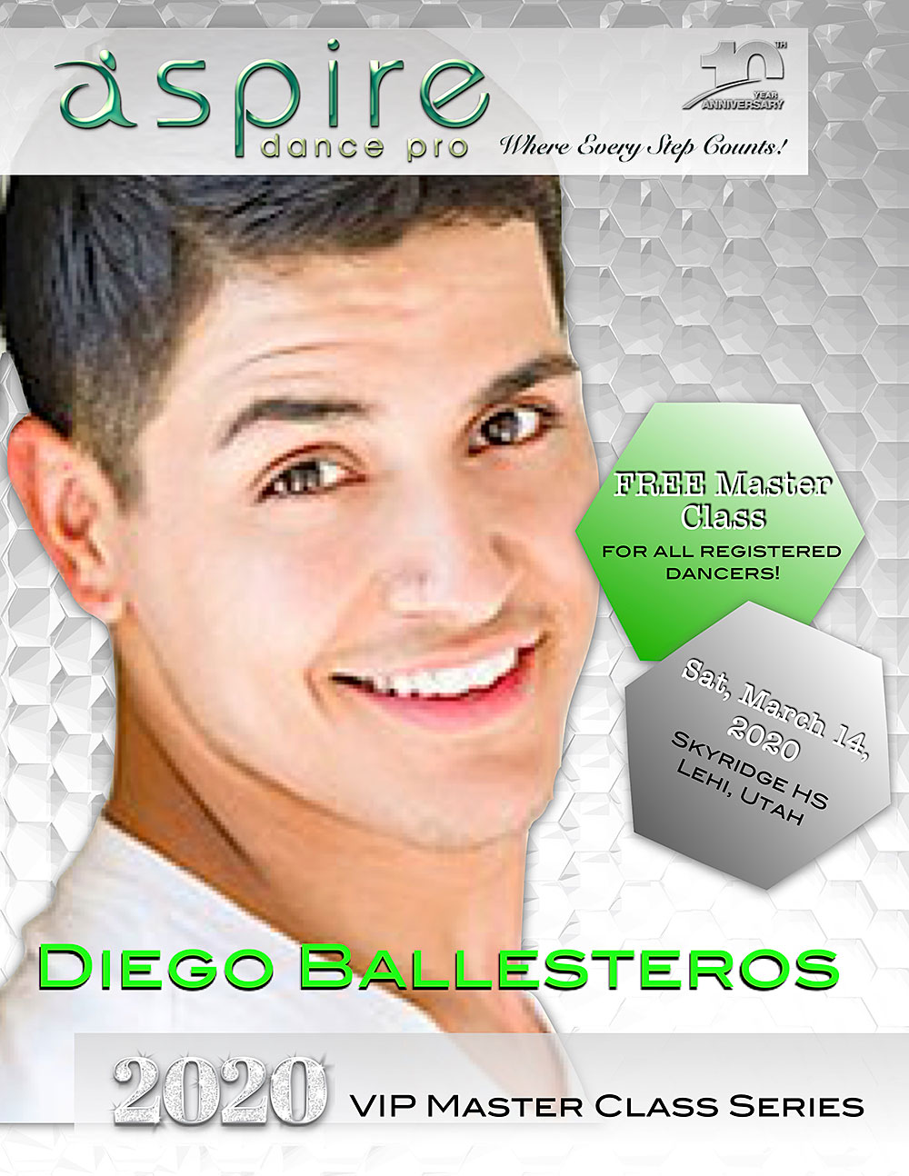 Diego Ballesteros - Aspire Dance Pro Competitions VIP Masterclass Instructor